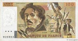 100 Francs DELACROIX modifié FRANCE  1980 F.69.04a TB+