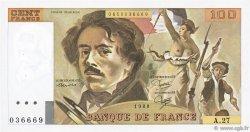 100 Francs DELACROIX modifié FRANCE  1980 F.69.04 pr.SUP