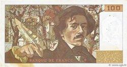 100 Francs DELACROIX modifié FRANCE  1980 F.69.04 pr.TTB