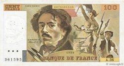 100 Francs DELACROIX modifié FRANCE  1980 F.69.04a TB à TTB