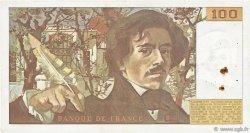 100 Francs DELACROIX modifié FRANCE  1980 F.69.04a pr.TTB