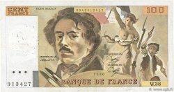 100 Francs DELACROIX modifié FRANCE  1980 F.69.04a TB