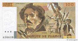 100 Francs DELACROIX modifié FRANCE  1980 F.69.04b SPL+