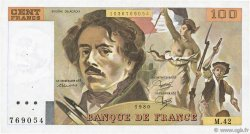 100 Francs DELACROIX modifié FRANCE  1980 F.69.04b TTB
