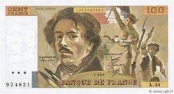 100 Francs DELACROIX modifié FRANCE  1981 F.69.05 SPL+