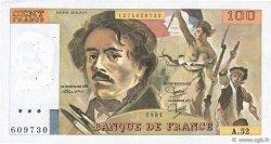 100 Francs DELACROIX modifié FRANCE  1981 F.69.05 TTB