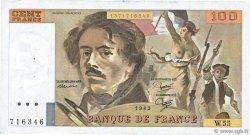 100 Francs DELACROIX modifié FRANCE  1982 F.69.06 TTB
