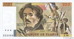 100 Francs DELACROIX modifié FRANCE  1982 F.69.06 SPL