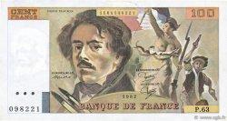 100 Francs DELACROIX modifié FRANCE  1982 F.69.06