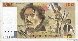 100 Francs DELACROIX modifié FRANCE  1983 F.69.07 TB+