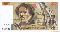 100 Francs DELACROIX modifié FRANCE  1983 F.69.07 TTB