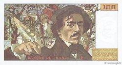 100 Francs DELACROIX modifié FRANCE  1983 F.69.07 TTB+
