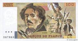 100 Francs DELACROIX modifié FRANCE  1984 F.69.08a TTB+