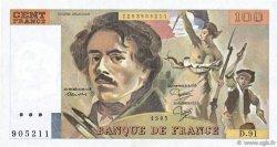 100 Francs DELACROIX modifié FRANCE  1985 F.69.09 TTB+
