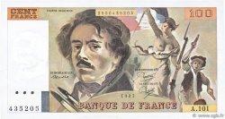 100 Francs DELACROIX modifié FRANCE  1985 F.69.09 SUP