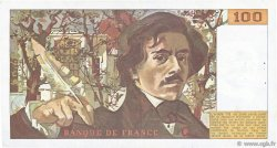 100 Francs DELACROIX modifié FRANCE  1986 F.69.10 TTB