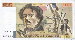 100 Francs DELACROIX modifié FRANCE  1986 F.69.10 SUP