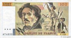 100 Francs DELACROIX modifié FRANCE  1987 F.69.11 pr.TTB