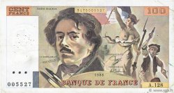 100 Francs DELACROIX modifié FRANCE  1988 F.69.12 TB