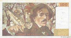 100 Francs DELACROIX modifié FRANCE  1989 F.69.13a TTB