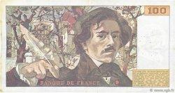 100 Francs DELACROIX modifié FRANCE  1989 F.69.13b TTB