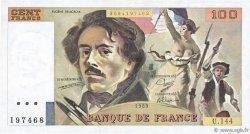 100 Francs DELACROIX modifié FRANCE  1989 F.69.13c TTB+