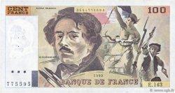 100 Francs DELACROIX imprimé en continu FRANCE  1990 F.69bis.01b5 TTB