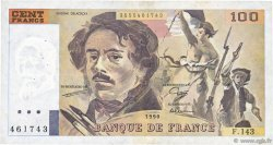 100 Francs DELACROIX imprimé en continu FRANCE  1990 F.69bis.01b6 TTB
