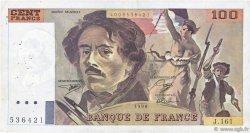 100 Francs DELACROIX imprimé en continu FRANCE  1990 F.69bis.02b pr.TTB