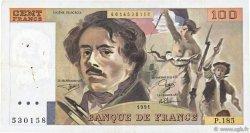 100 Francs DELACROIX imprimé en continu FRANCE  1991 F.69bis.03b2 pr.TTB