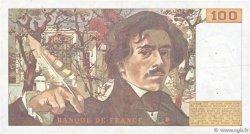 100 Francs DELACROIX modifié FRANCE  1989 F.69.13c TTB