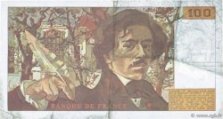 100 Francs DELACROIX imprimé en continu FRANCE  1991 F.69bis.04a pr.TTB