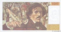 100 Francs DELACROIX imprimé en continu FRANCE  1991 F.69bis.04a TTB+