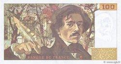 100 Francs DELACROIX imprimé en continu FRANCE  1991 F.69bis.03c1 SUP