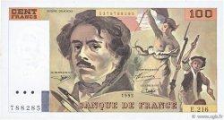 100 Francs DELACROIX imprimé en continu FRANCE  1993 F.69bis.05 SUP