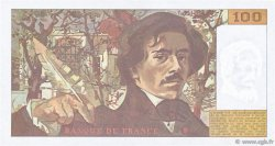 100 Francs DELACROIX imprimé en continu FRANCE  1993 F.69bis.08 SPL+