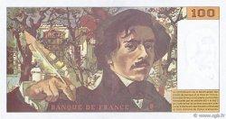 100 Francs DELACROIX 442-1 & 442-2 FRANCE  1994 F.69ter.01b pr.SPL