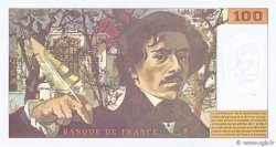 100 Francs DELACROIX 442-1 & 442-2 FRANCE  1994 F.69ter.01b SPL