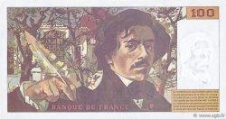 100 Francs DELACROIX 442-1 & 442-2 FRANCE  1994 F.69ter.01b TTB+