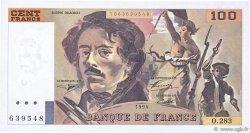 100 Francs DELACROIX 442-1 & 442-2 FRANCE  1994 F.69ter.01c SUP