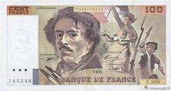 100 Francs DELACROIX 442-1 & 442-2 FRANCE  1995 F.69ter.02c TTB