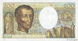 200 Francs MONTESQUIEU FRANCE  1981 F.70.01 pr.TTB