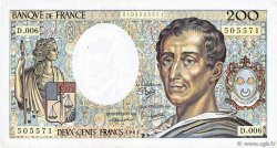 200 Francs MONTESQUIEU FRANCE  1981 F.70.01 TB+