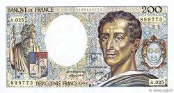 200 Francs MONTESQUIEU FRANCE  1984 F.70.04 pr.SUP