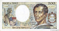 200 Francs MONTESQUIEU FRANCE  1984 F.70.04 TB