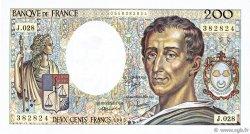 200 Francs MONTESQUIEU FRANCE  1985 F.70.05 SPL