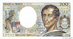 200 Francs MONTESQUIEU FRANCE  1985 F.70.05 TTB+
