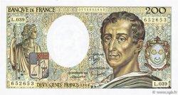 200 Francs MONTESQUIEU FRANCE  1986 F.70.06 SUP