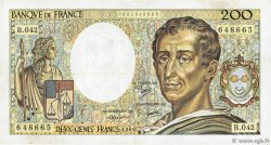 200 Francs MONTESQUIEU FRANCE  1986 F.70.06 TB