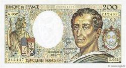 200 Francs MONTESQUIEU FRANCE  1987 F.70.07 TTB+